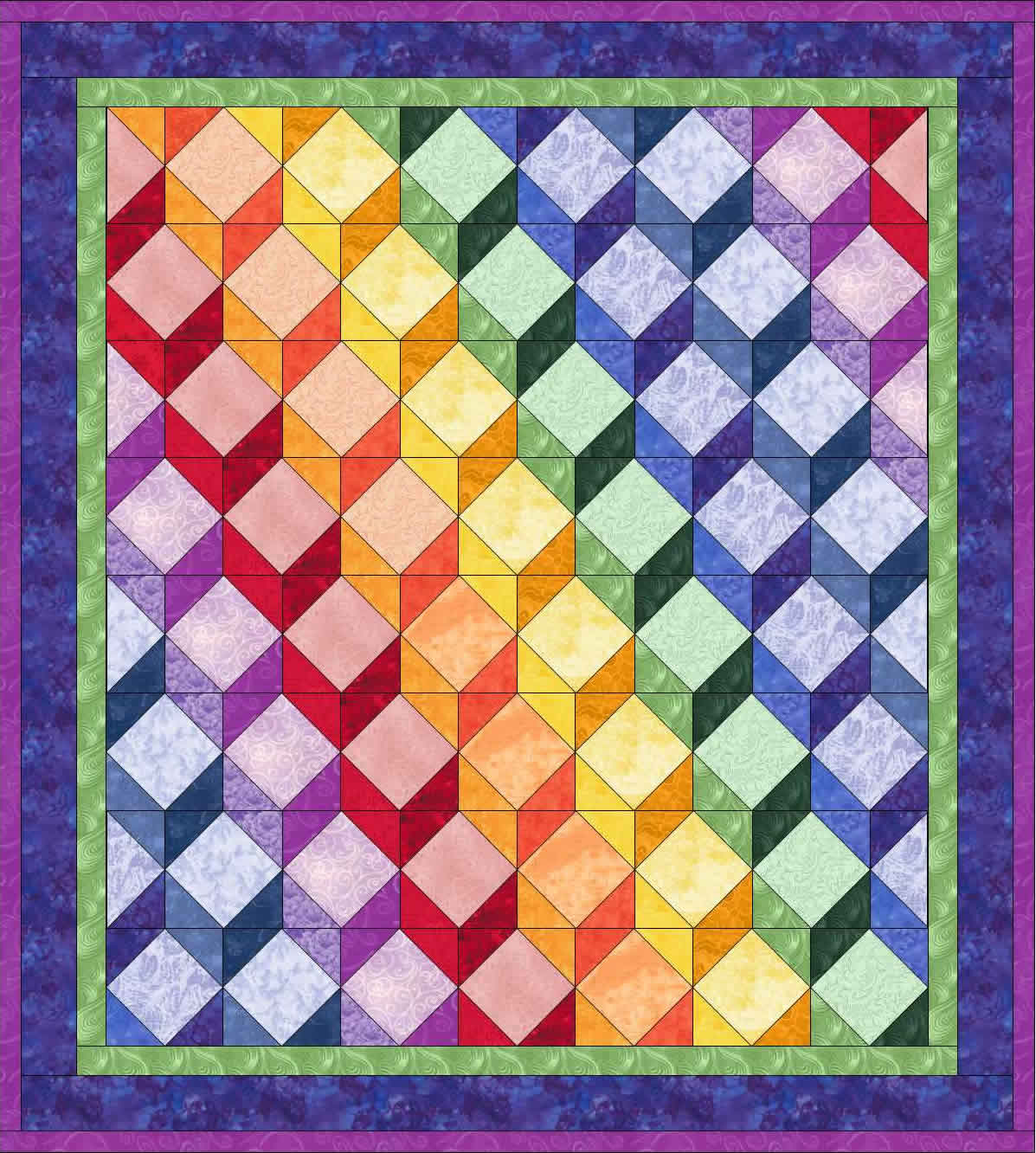 Pieced Blocks : Tumbling Blocks